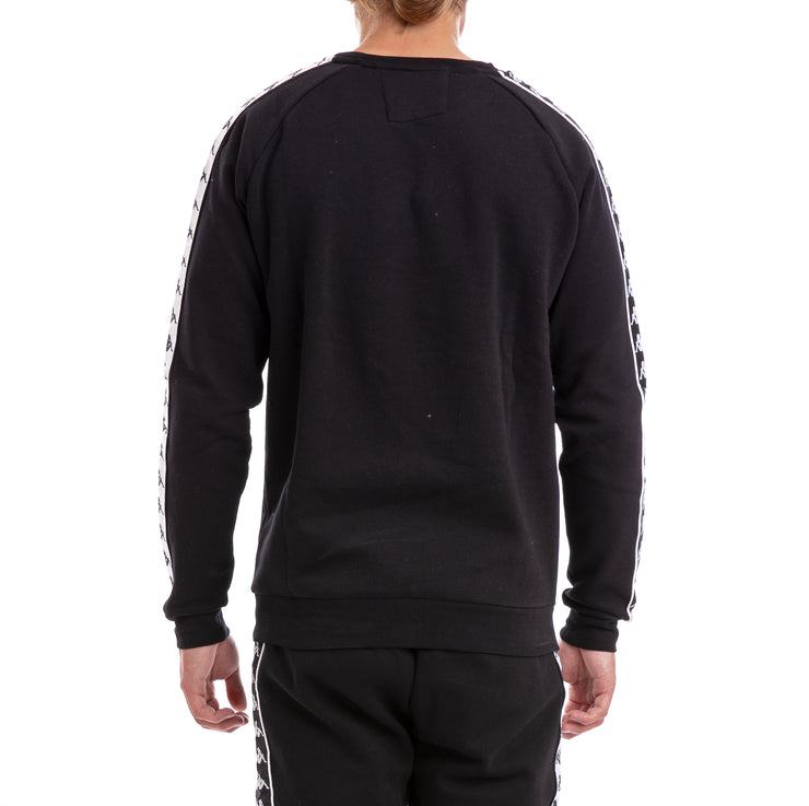 Kappa 222 Banda Arbir Alternating Banda Black White Sweatshirt