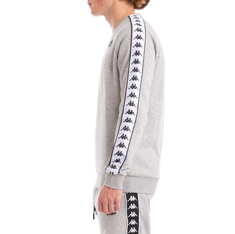 Kappa 222 Banda Arbir Alternating Banda Grey Black White Sweatshirt