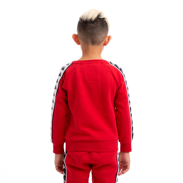 Kappa Kids 222 Banda Arbir Alternating Banda Red Black White Sweatshirt