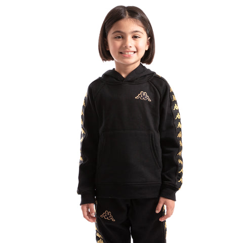 Kappa Kids Authentic 222 Banda Aritz Slim Sweatshirt Black Gold