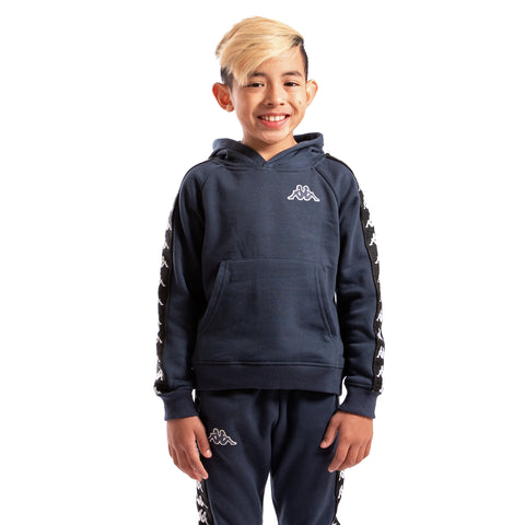 Kappa Kids Authentic 222 Banda Aritz Slim Sweatshirt Blue Marine Black