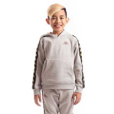 Kappa Kids Authentic 222 Banda Aritz Slim Sweatshirt GreyMdMel Black Gold