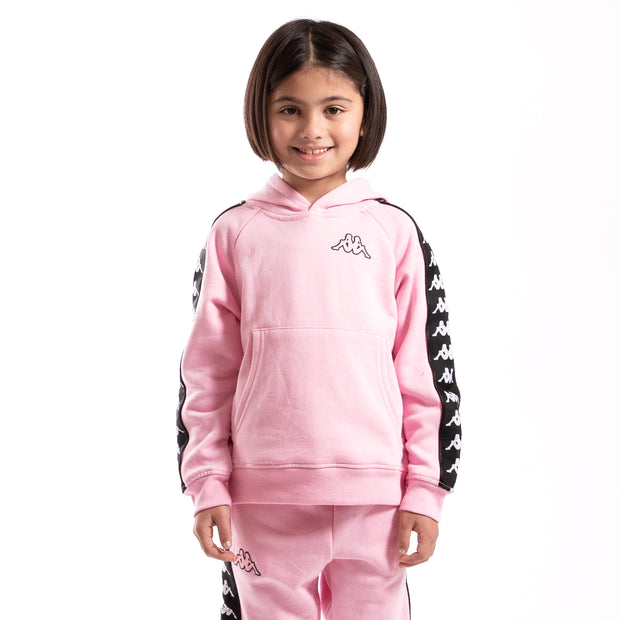 Kappa Kids Authentic 222 Banda Aritz Slim Sweatshirt Pink Soft Black