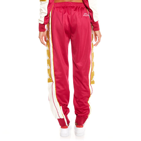 Kappa 222 Banda 10 Arsis Red White Gold Pants