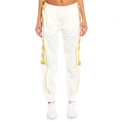 Kappa 222 Banda 10 Arsis White Yellow Gold Pants