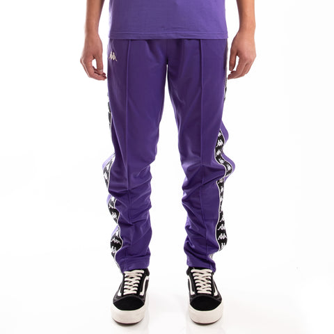 Kappa 222 Banda Astoria Snaps Slim Violet Black White Track Pants