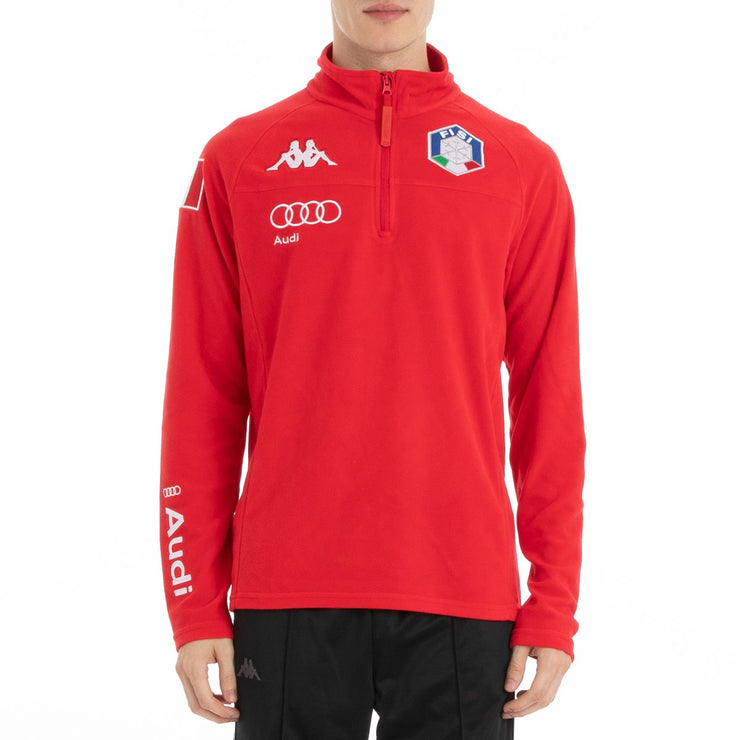 Kappa 6Cento 687B Fisi Fleece Jacket - Red