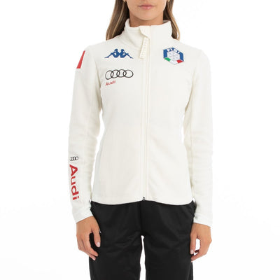 6Cento 688 Fisi Fleece Jacket - White