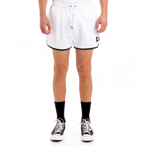 Kappa Authentic Agius Alternating Banda White Black Swim Shorts