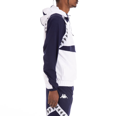 Kappa Authentic Bakit Blue Marine White Anorak