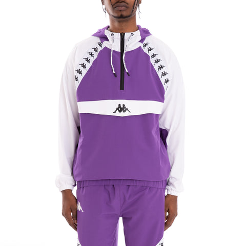 Kappa Authentic Bakit Violet Pansy White Anorak
