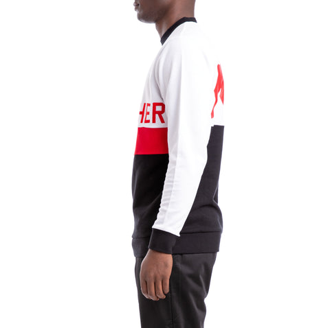 Kappa Authentic Bethek White Black Red Sweatshirt