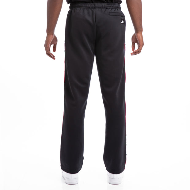 Kappa Authentic Jpn Bailor Black Red White Trousers