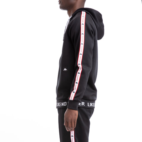 Kappa Authentic Jpn Basev Black Red White Track Jacket