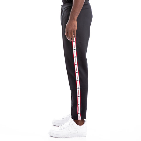Kappa Authentic Jpn Bilma Black Red White Cropped Trousers