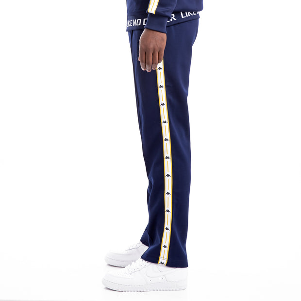 Kappa Authentic Jpn Bailor BlueMar White Yellow Trousers