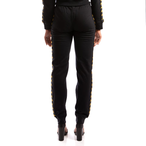 Kappa 222 Banda Aviol Black Gold Sweatpants