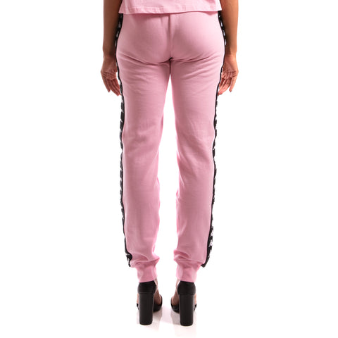 Kappa 222 Banda Aviol Pink Black Sweatpants