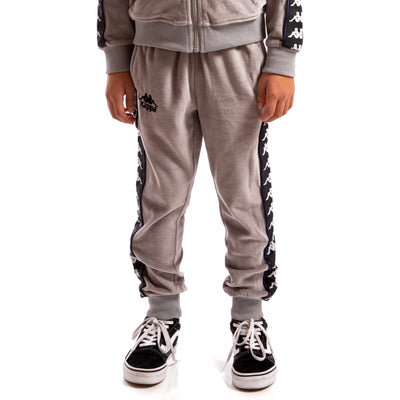 Kappa Kids Authentic 222 Banda Ayne Pants Grey Mist Black White