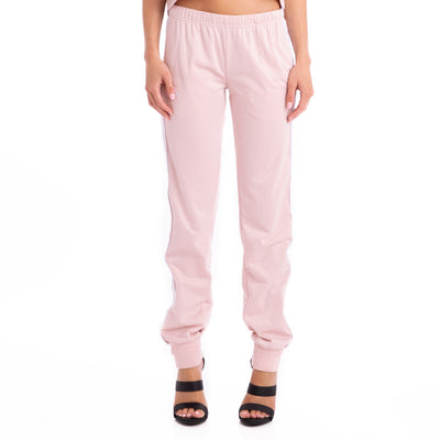 222 Banda Wrastoria Slim Trackpants Pink White