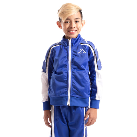 Kappa Kids 222 Banda 10 Anay Blue Royal White Jacket