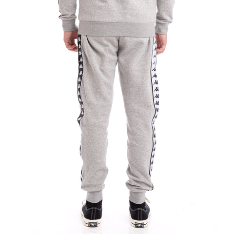 Kappa 222 Banda Alanz Grey Black White Sweatpants