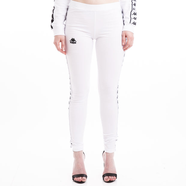 Kappa 222 Banda Anen Alternating Banda White Leggings