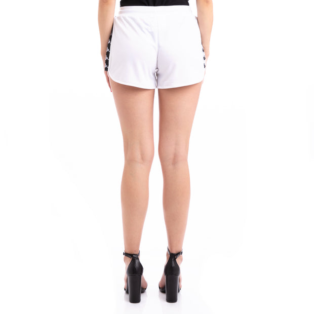 Kappa 222 Banda Anguy Alternating Banda White Black Shorts