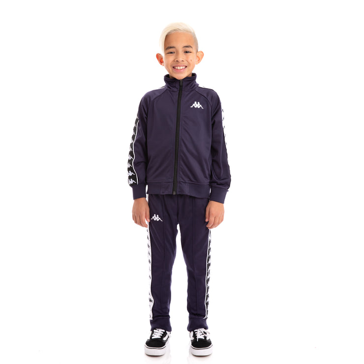 Kids 222 Banda Rastoria Slim Alternating Banda Blue Black White Trackpants
