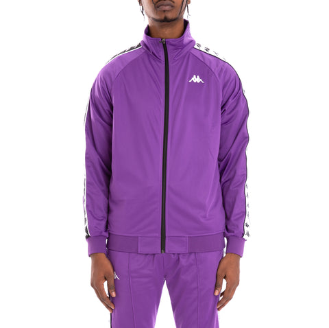 Kappa 222 Banda Anniston Alternating Banda Violet Black White Track Jacket