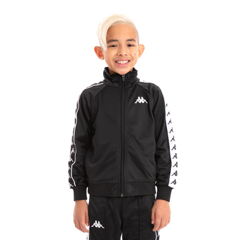 Kids 222 Banda Anniston Slim Alternating Banda Black White Track Jacket