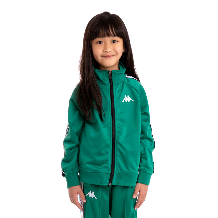 Kappa Kids 222 Banda Anniston Slim Alternating Banda Green Black White Track Jacket