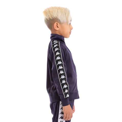 Kids 222 Banda Anniston Slim Alternating Banda Blue Black White Track Jacket