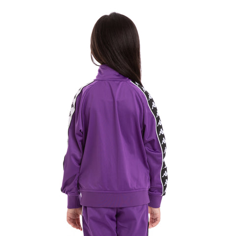 Kids 222 Banda Anniston Slim Violet Black White Track Jacket_3