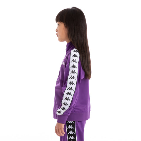 Kids 222 Banda Anniston Slim Violet Black White Track Jacket_4