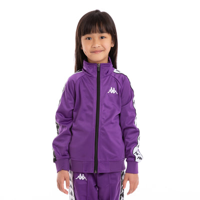 Kids 222 Banda Anniston Slim Violet Black White Track Jacket_1