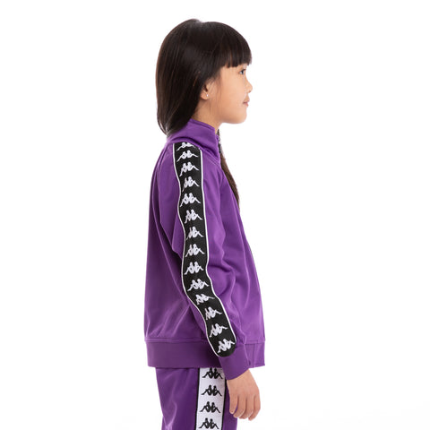 Kids 222 Banda Anniston Slim Violet Black White Track Jacket_2
