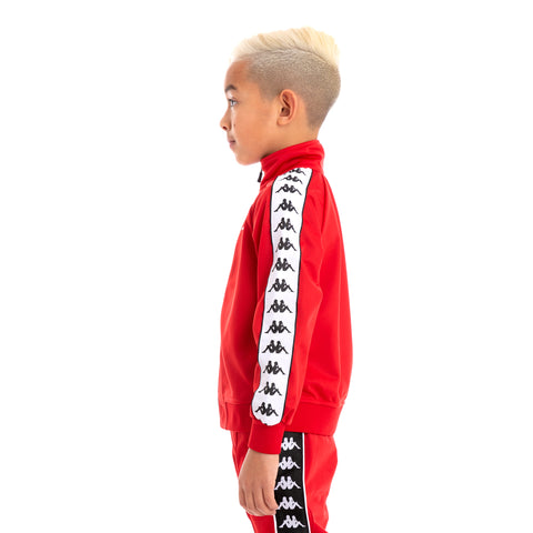 Kids 222 Banda Anniston Slim Alternating Banda Red Black White Track Jacket