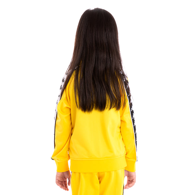 Kids 222 Banda Anniston Slim Alternating Banda Yellow Black White Track Jacket