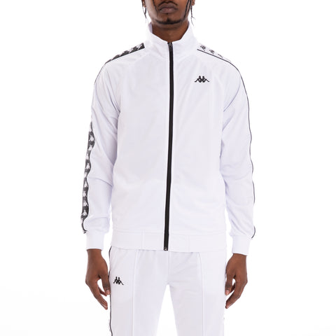 Kappa 222 Banda Anniston Alternating Banda White Black Track Jacket