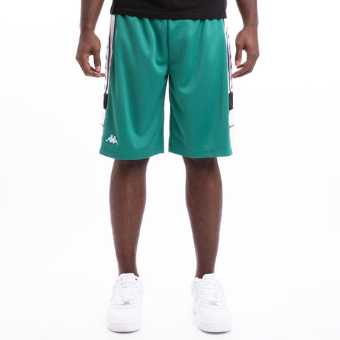 Kappa 222 Banda Arawa Green Black White Shorts
