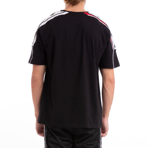 Kappa 222 Banda 10 Arset Black Red White T-Shirt