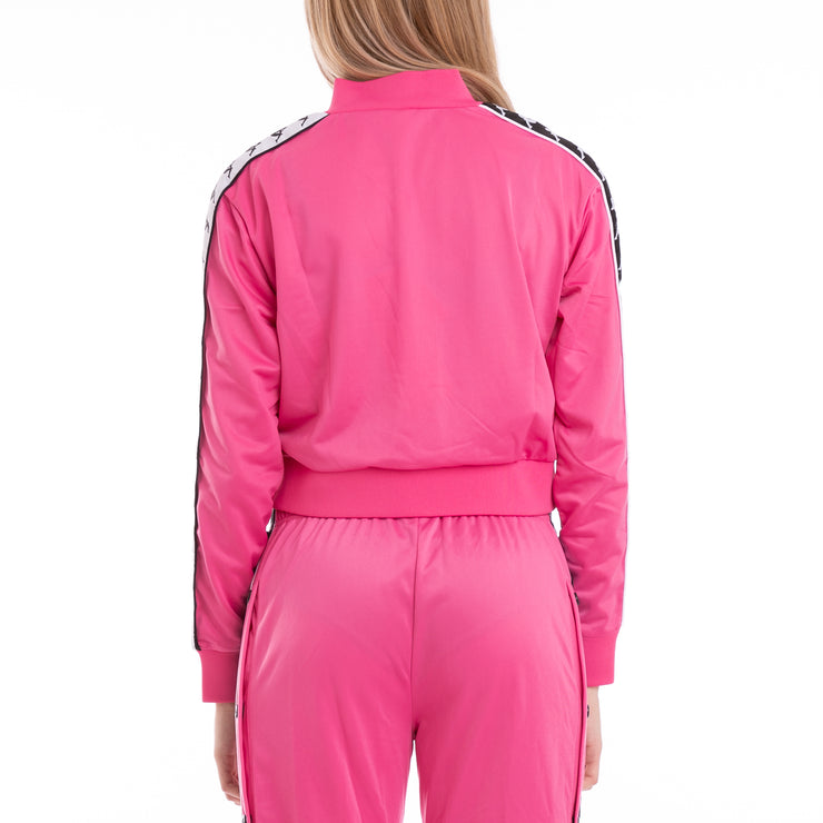 222 Banda Asber Alternating Banda Fuchsia Black White Jacket