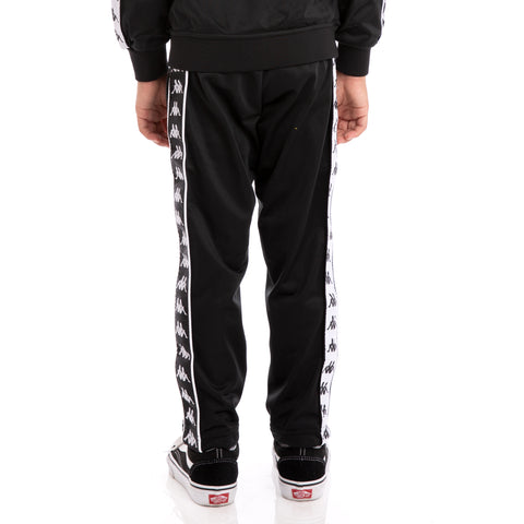 Kids 222 Banda Astoria Slim Alternating Banda Black White Trackpants