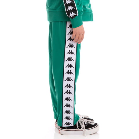 Kids 222 Banda Astoria Slim Alternating Banda Green Black White Trackpants