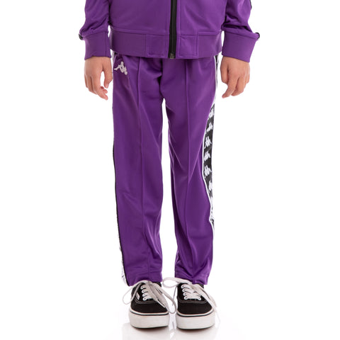 Kids 222 Banda Astoria Slim Alternating Banda Violet Black White Trackpants