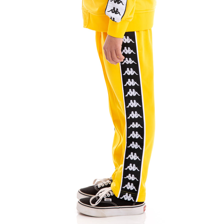 Kids 222 Banda Astoria Slim Alternating Banda Yellow Black White Trackpants