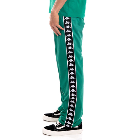 Kappa 222 Banda Astoriazz Alternating Banda Green Black White Trackpants