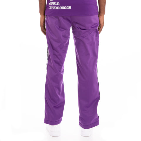 Kappa 222 Banda Astoriazz Alternating Banda Violet Black White Trackpants
