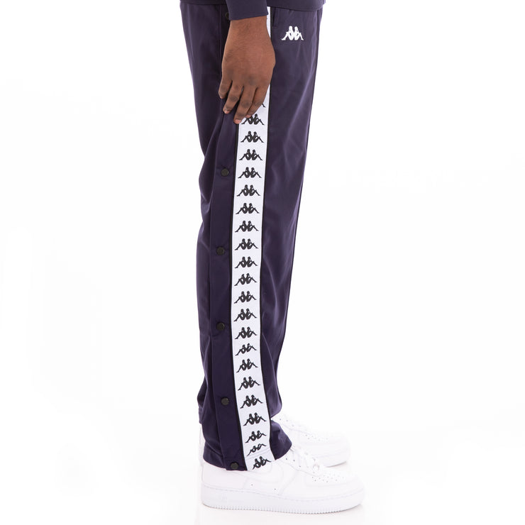 222 Banda Astoriazz Snap Alternating Banda Blue Black White Trackpants